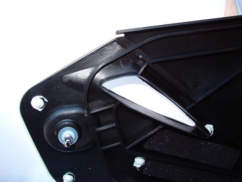 Airbox door vent cut open