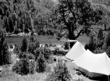 Le camp II, rive Nord du lac d'Orédon