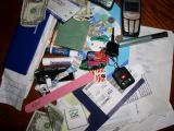 Vickis handbag contents....