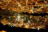 Manhatten from the sky at night