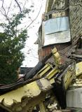 Window tinned, porch roof collapsed