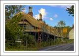 Longleat ~ thatchers at work