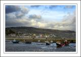 Boats and town, Lyme Regis, Dorset