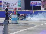 drag bike burn out