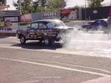1957 Chevy burn out