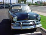 black 1951 Ford 4 door sedan