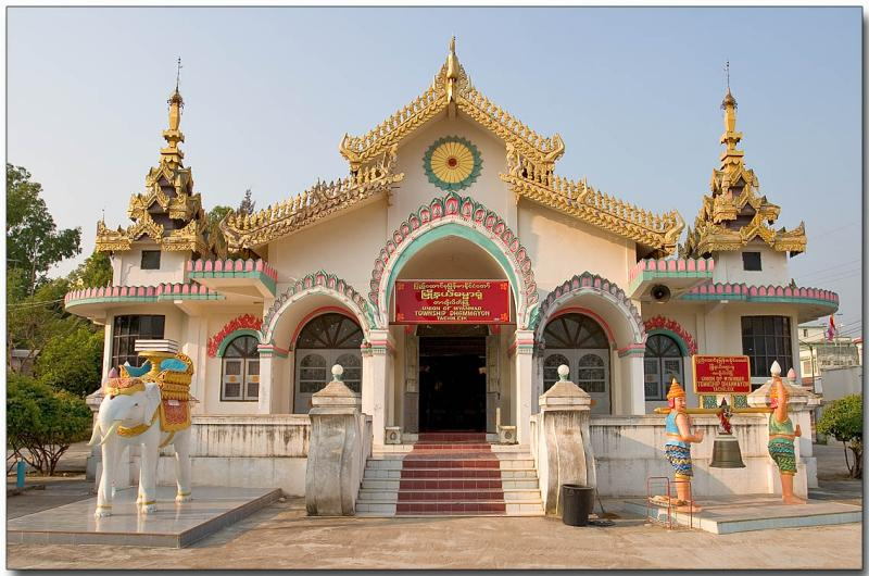 Town temple at Mae Sai, Burma