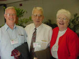 At the June 2001 Azalea Society of America convention, Asheville NC, with Ed and Mary Collins.