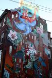 medicinal plant mural in Philly