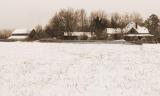 Snow on the Farm, sepia