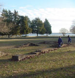 This is the site of the original Jamestown colony in Virginia.  There is a reproduction of the community nearby.