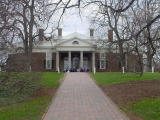 Monticello looks similar to the library at the University of Virgina, which Thomas Jefferson designed, also.