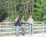Elvin, Scott, & Chris at Ausable Chasm,VT. / May 2001