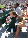 A very young MSU fan in green & white