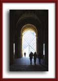 Entering Le Louvre...