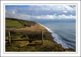 Chesil and Portland from Hive beach, West Dorset