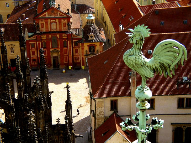Rooster Weathervane, St. Vitus Cathedral, Prague, Czech Republic, 2003