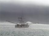 Winter stormy seas