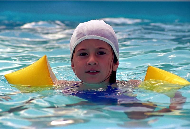 Caro in the pool