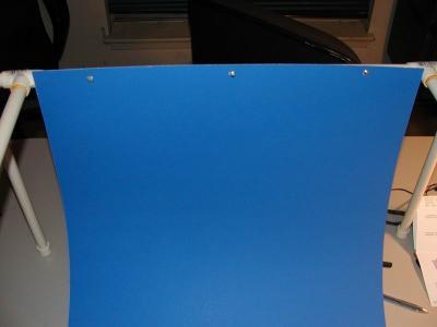 Blue backdrop