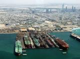 Dubai Dry Docks Aerial with Sheikh Zayed Road