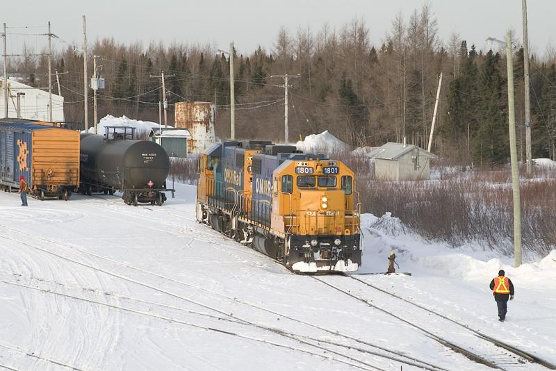 Engines moving forward to switch tracks