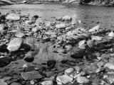 Washed rocks in stream
