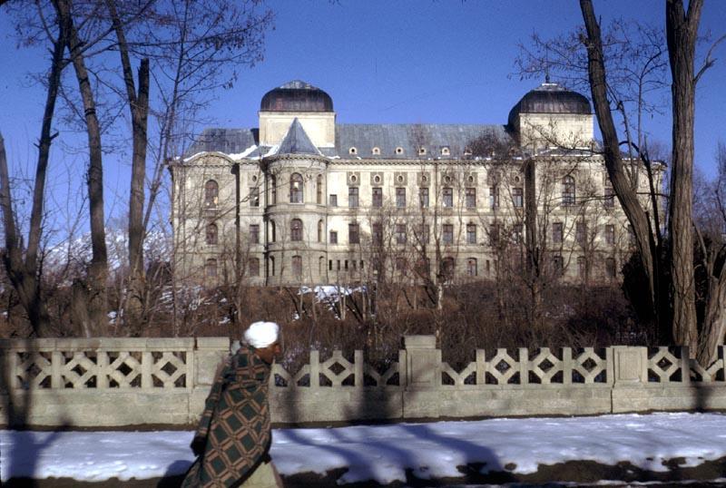 Winter Walk in Front of Darulaman Palace