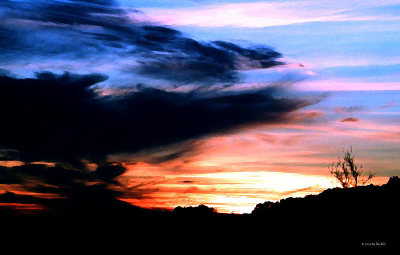 San Antonio Sunset Christmas 2001