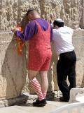 Purim at the wailing wall