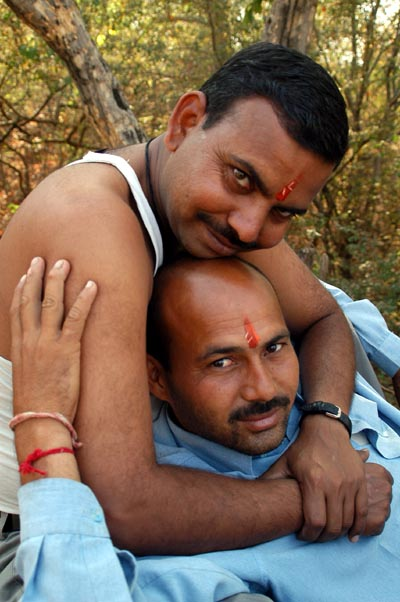 Indian guys are very touchy-feely, Ranthambhore, India