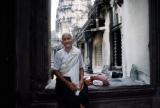 A fortune teller inside Angkor Wat.