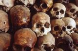 Skulls at Tuol Sleng.