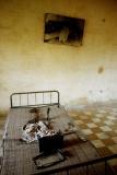 Torture room at Tuol Sleng.