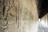 The bas-reliefs at Angkor Wat.