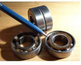 Front wheel bearings.  Note they are two bearings stuck together by a plastic ring