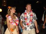 Hawaiian party on the beach