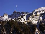 moon over mountains by ubartosz