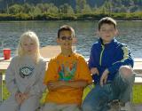 Carly, Sam & Chris on the Snake River
