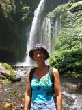 30 more mins trek will lead to this waterfall with a swimming hole at the bottom of it