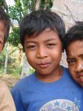 kids at the Burne Village  hello village  Lombok