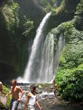 the water pool at the end of the falls