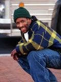 This is Earl. He has no home. His mother died recently of cancer. His father got a new woman right away. Earl doesn't like it when people offer to buy him a drink in a bar. He just wants a little money to buy food or some clothes.