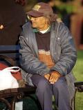 Man Smoking in Lafayette Park, Washington, DC