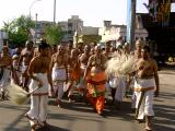 Swamy and ghosti returning back to mutt after doing mangalasasanams to parthasarathi emperuman on thirunakshatra day