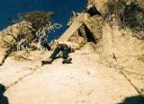 Tom leading on Twin Peaks, San Gabriel Wilderness
