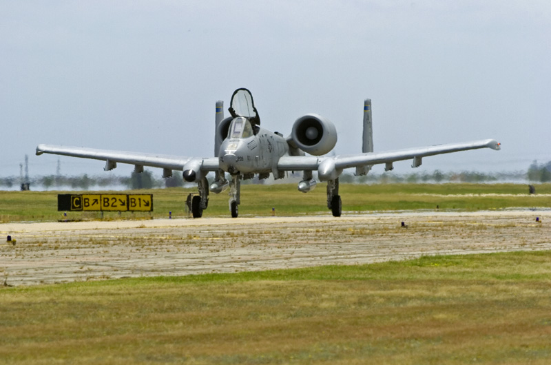 A-10 taxiing out for takeoff