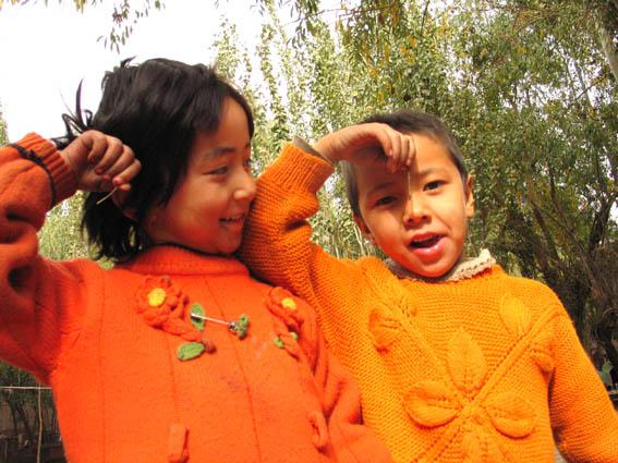 Kids in orange