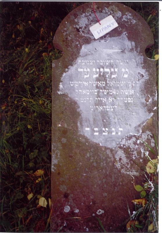 Aliya..daughter of...Shmuel MOSKOWICS...wife of...(honorific)Moshe BAUMOHL