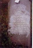 died 15 Cheshvan ___________ October 27 __________ (Eliyahu acrostic down right side of gravestone)